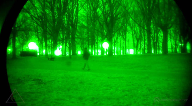 why does everyhing looks green through night vision goggles