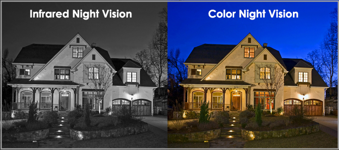 Infrared night vision Vs color night vision