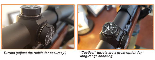 Turrets of the 22lr scope