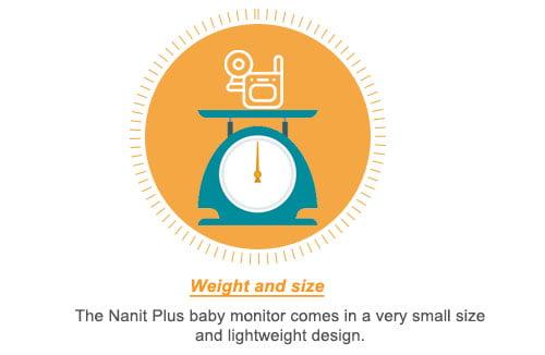 Nanit Plus Smart Baby Monitor weight