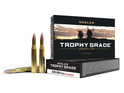 Nosler Trophy Grade .300 H&H Magnum 180 Grain